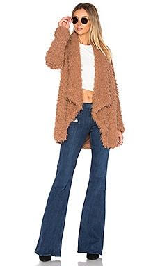 x REVOLVE Teddy Shag Coat in Beige