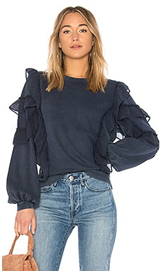 Cat Ruffle Sweater Tularosa $138 BEST SELLER