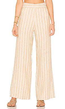 x REVOLVE Marley Pants in Natural Stripe Linen