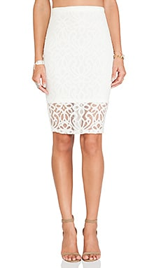 Tularosa Beau Pencil Skirt in Ivory