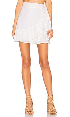 x REVOLVE Maida Ruffle Skirt Tularosa $138