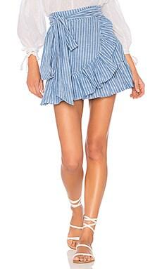 x REVOLVE Maida Ruffle Skirt
