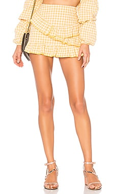 Emory Embroidered Skort in Yellow. - size L (also in M,S,XL,XS,XXS) Privacy Please