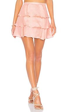 Купить Мини-юбка с рюшами flora - Tularosa цвет коралл