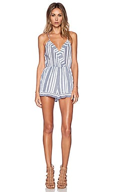 Amelia Romper in Blue & White
