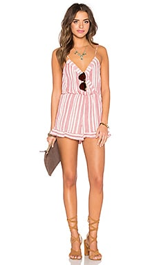 Tularosa x REVOLVE Amelia Romper in Red & White