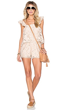 Tularosa Gwendolyn Romper in Pale Blush