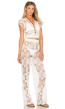 Tularosa x REVOLVE x Rocky Barnes Kylie Jumpsuit in Ivory