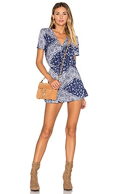 x REVOLVE Saturn Romper in Navy Scarf