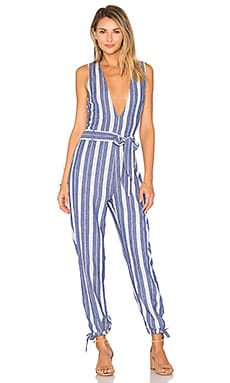 Reese Jumpsuit in 靛藍色條紋