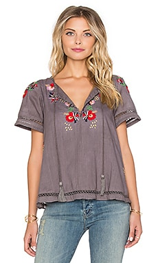 Tularosa Lewis Top in Medium Gery