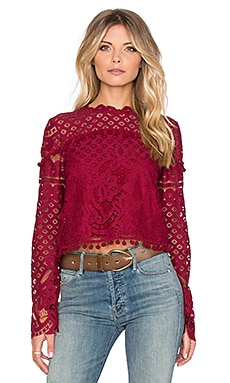 Tularosa x REVOLVE Holly Top in Wine