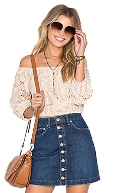 Hadley Top en Blush Pâle