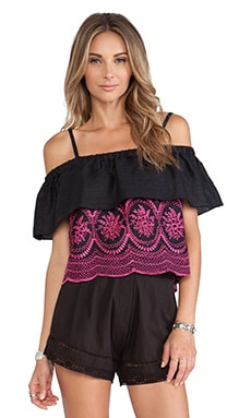 Tularosa Tally Blouse in Black