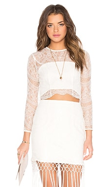 x REVOLVE The Barcelona Top en Blanc