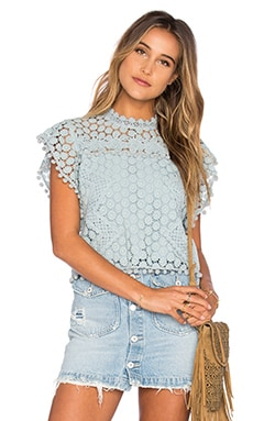 Tularosa Clayton Lace Top in Mint