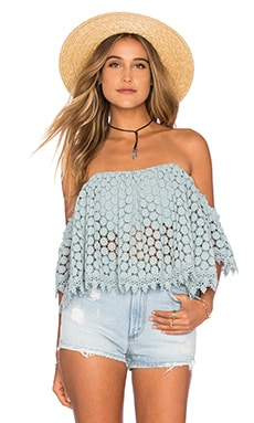 Tularosa Amelia Crop Top in Mint