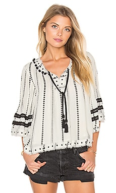 Tularosa Huxley Top in Ivory Striped Tribal