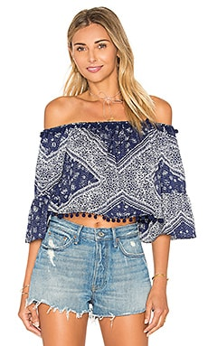 x REVOLVE Alexa Top in Navy Scarf