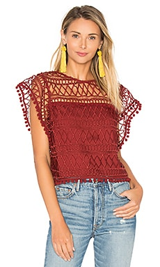 Clayton Lace Top in Clay