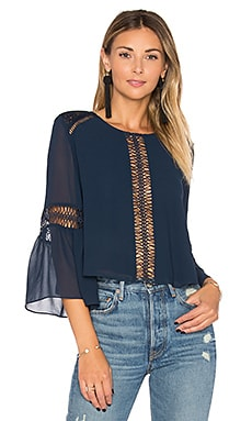 Jaylen Blouse in Deep Indigo