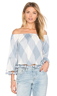 Alexa Top en Cottage Blue