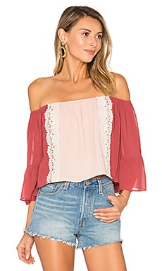 Alexa Top in Dusted Berry & Nude