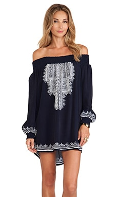 Jacqueline Straight Tunic in Navy