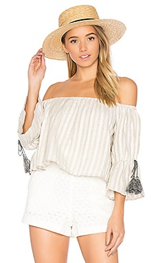 x REVOLVE Alexa Top in Natural Stripe