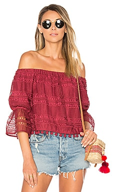 Alexa Top in Dusted Berry