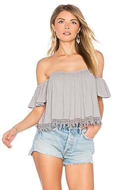 Amelia Top in Medium Gray