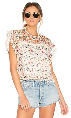 Kennedy Top in Rainbow Lace