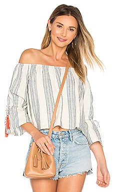 Alexa Top em Chambray Stripe