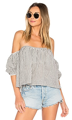 x REVOLVE Rio Top in Black Stripe