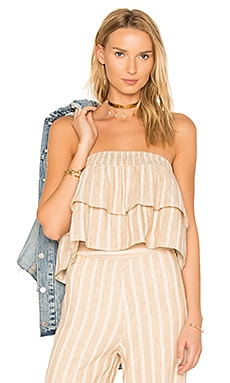 x REVOLVE Breanne Tank in Natural Stripe Linen