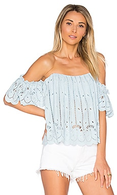 x REVOLVE Amelia Crop in Baby Blue