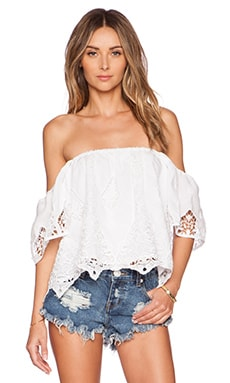 Tularosa Dame Top in White