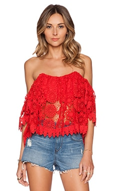 Amelia Crop Top in Cayenne