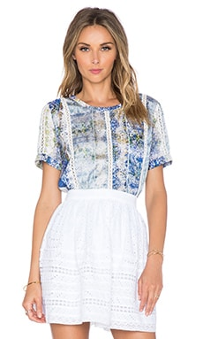 Tularosa Seraphina Top in Blue Multi