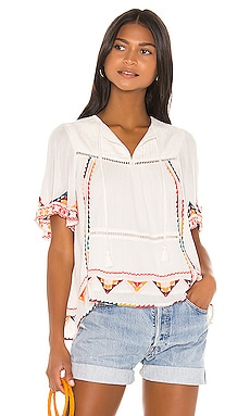 Ingrid Embroidered Top Tularosa $95
