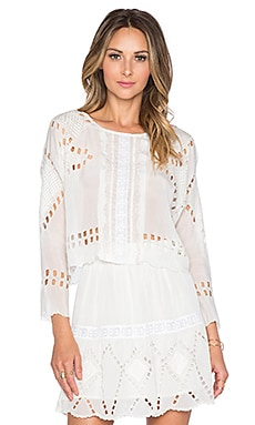Tularosa Daphne Top in Ivory