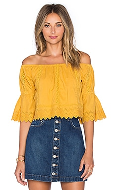 Tularosa Isabella Top in Marigold