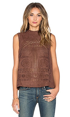 Tularosa Elliot Laser Cut Top in Putty
