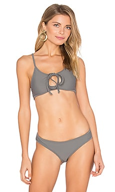 Ingrid Bikini Top in Stone Grey