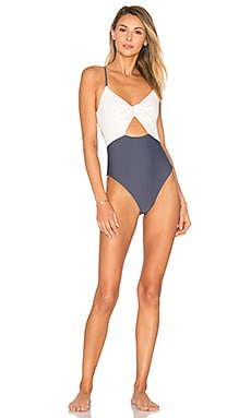 Asa One Piece in Ivory & Charcoal
