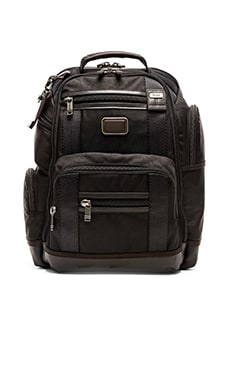 Tumi Alpha Bravo Kingsville Deluxe Brief Pack in Hickory