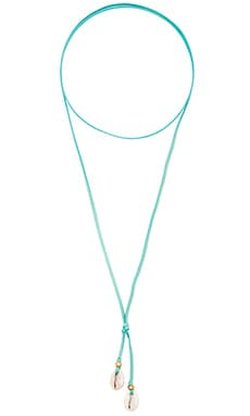 Cove Lariat Necklace in Turquoise
