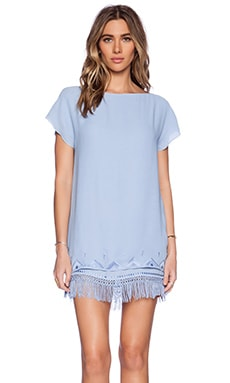 Twelfth Street By Cynthia Vincent Fringe Shift Dress in Periwinkle