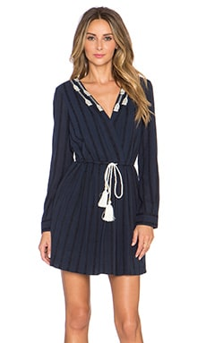 Twelfth Street By Cynthia Vincent Pleated Shirt Dress in Navy