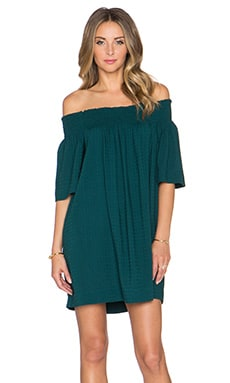 Twelfth Street By Cynthia Vincent Off the Shoulder Mini Dress in Teal